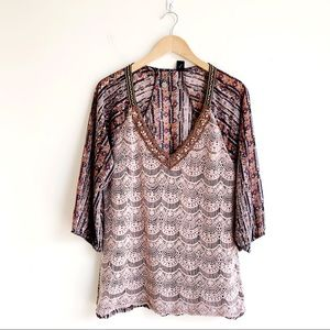 BKE Boutique Pattern Lace Top